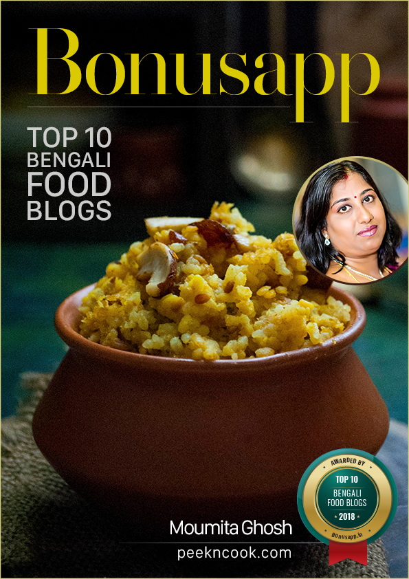 Badge for Top 10 Bengali Food Blogs – India 2018