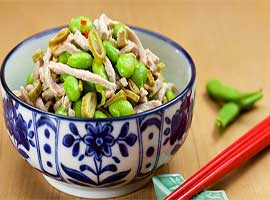 Fried pork with Soybean Bamboo shoots