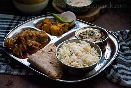 Punjabi Chicken Thali