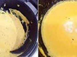 To prevent curd from curdling the curry