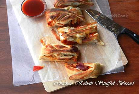 Chicken Kebab Stuffed Bread