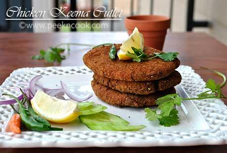 Chicken Keema Cutlet