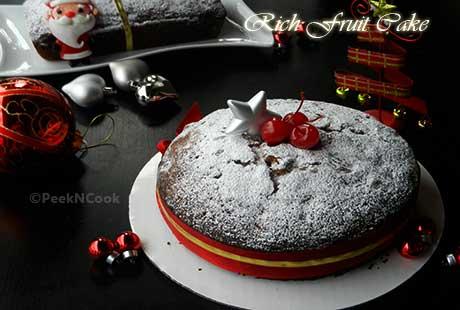 Rich Christmas Fruit Cake