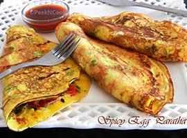 Spicy Egg Paratha