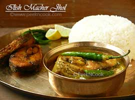 Ilish Macher Begun Alu Jhol Or Hilsha Fish Curry