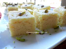 Kalakand Or Instant/Quick Kalakand Or Indian Fudge