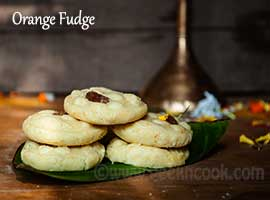 Orange Flavored Fudge Or Komola Sondesh