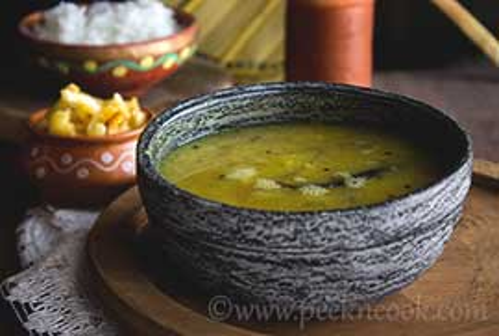 Kancha Aam Dal Or Bengali Raw Mango Lentil Soup