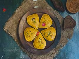 Mango Sandesh Or Mango Fudge