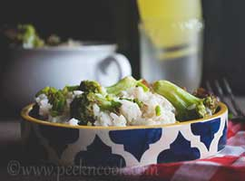 Stir Fried Rice With Brocoli