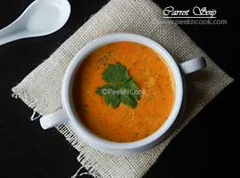 Indian Spiced Carrot Soup