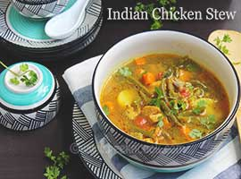 Indian Style Light Chicken & Vegetable Stew