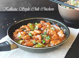 Kolkata Style Chili Chicken Or Indo Chinese Chili Chicken