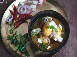South Indian Style Shahi Egg Kurma Or Korma