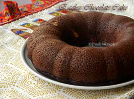 Eggless Butterless Super Moist Chocolate Cake