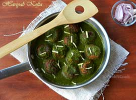 Mixed Vegetable kofta Cooked In Green Gravy