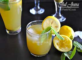 Jal Jeera Or Indian Spiced Lemonade