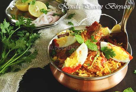 Kerala Style Prawn Biryani Or Chemmen Biryani