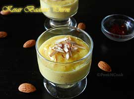 Saffron Almond Ground Rice Pudding