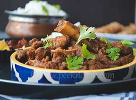 Kosha Khasir Mangsho Or Bengali Dry Mutton Curry