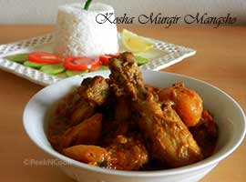 Bengali Chicken Curry Or Kosha Murgir Mangsho