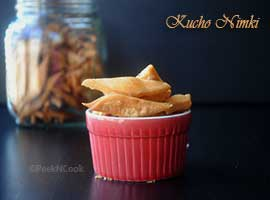 Kucho Nimki Or Bengali Style Namak Para Or Salty Crispy Crackers