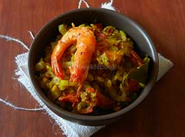 Lau Chingri Or Bottle Gourd & Shrimp Curry
