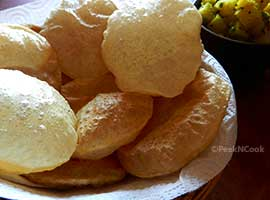 Luchi / Puri / Deep Fried Flat Bread & Aloo Tarkari/Potato Curry