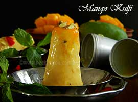 Refreshing Mango Kulfi Or Indian Mango Flavored Ice-Cream
