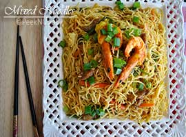 Mixed Chow mein Or Kolkata Style Mixed Chow mein