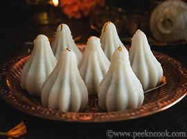 Steamed Modak Or Indian Sweet Dumplings