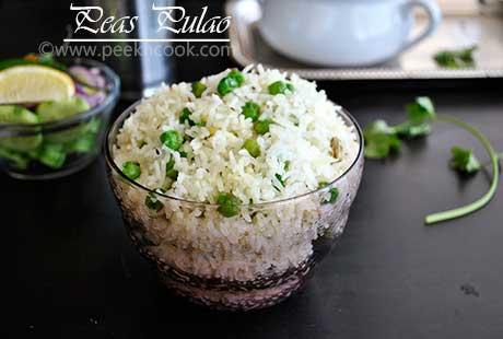 Green Peas Pulao or Matar Pilaf/Pulav