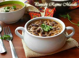 Authentic Punjabi Style Rajma Masala Or Red Kidney Beans In Spicy Gravy