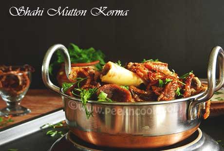 Shahi Mutton Korma/Kurma Or Gosht Shahi Korma