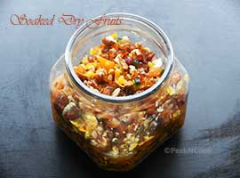Soaked Dry Fruits For Rich Fruit Cake For Christmas