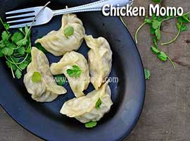Steamed Chicken Momo Or Dumplings Or Dimsum Or Wanton