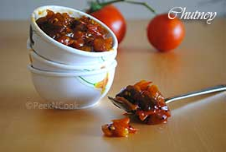 Bengali Style Tomato Khejur Aamshottor Sweet Chutney