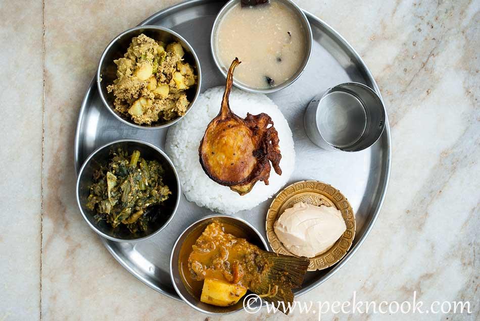 Rohu Fish Curry Thali
