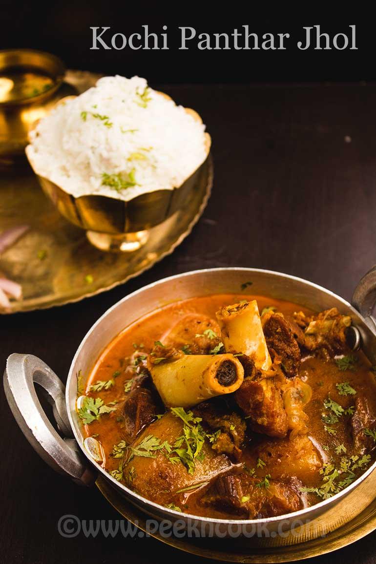 Bengali Style Baby Goat Curry Or Kochi Panthar Jhol