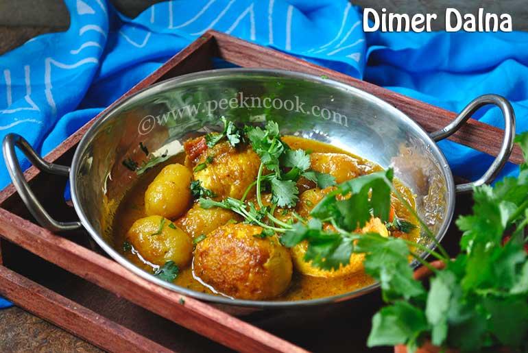 Dimer Dalna/Jhol Or Bengali Egg Curry