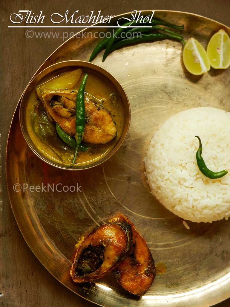 Ilish Macher Begun Aloo Die Jhol
