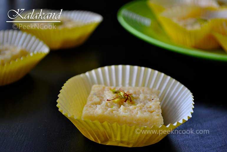 Kalakand Or Instant/Quick Kalakand Or Indian Fudge