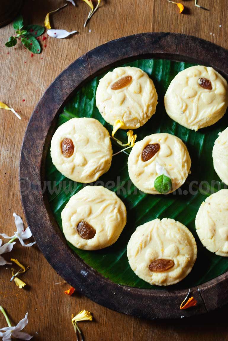 Orange Flavored Fudge Or Komola Sondesh