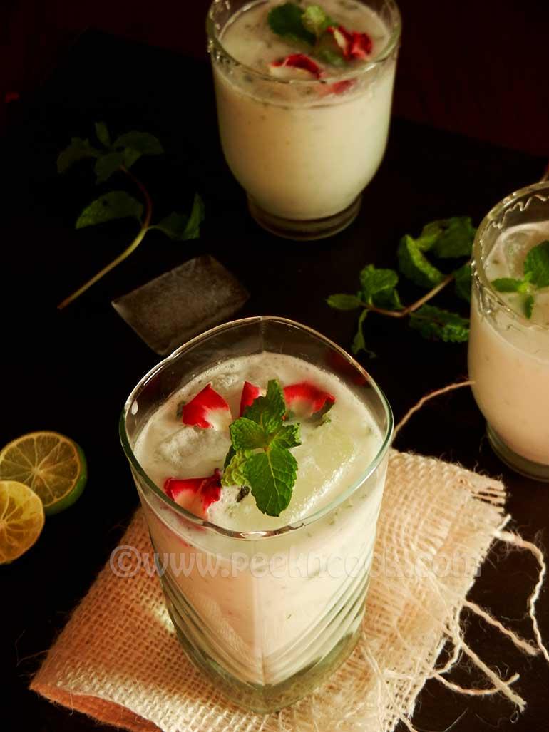 Tender Coconut Lassi/Buttermilk Or Daaber Ghol