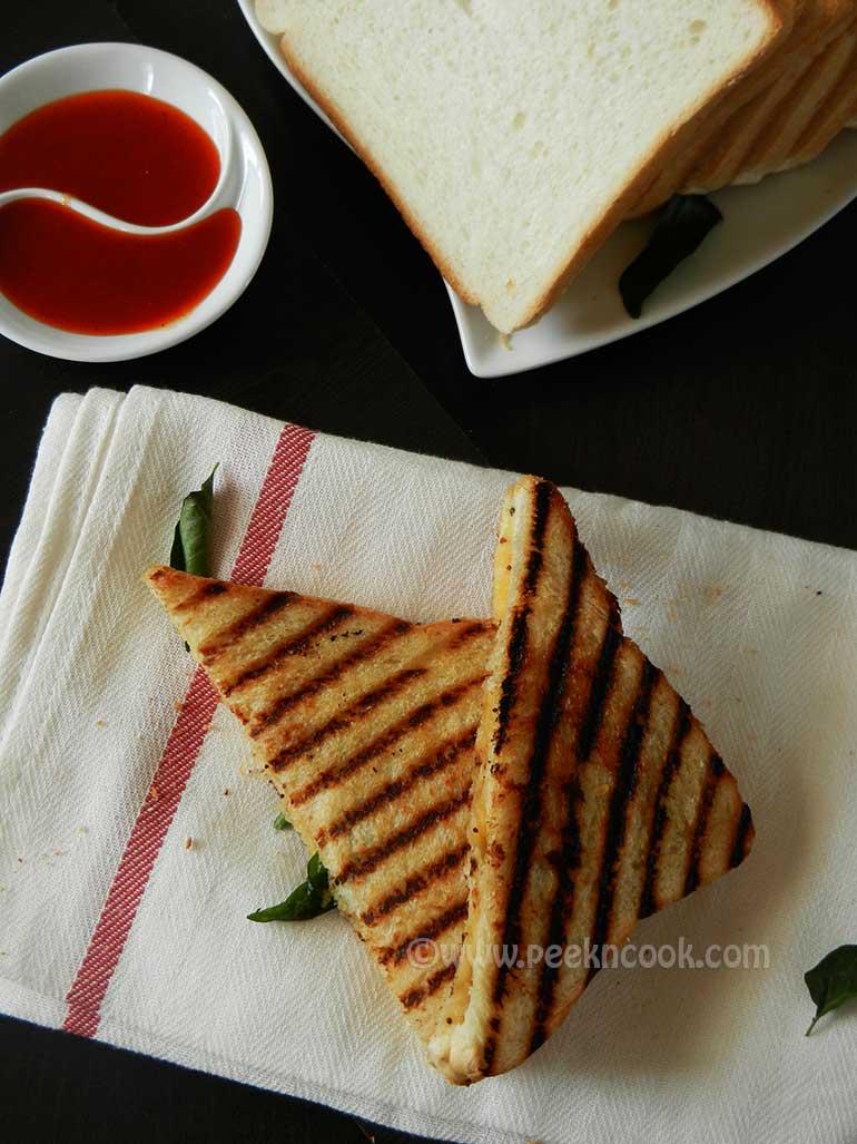 Aloo Masala Sandwich Or Indian Style Potato Sandwich