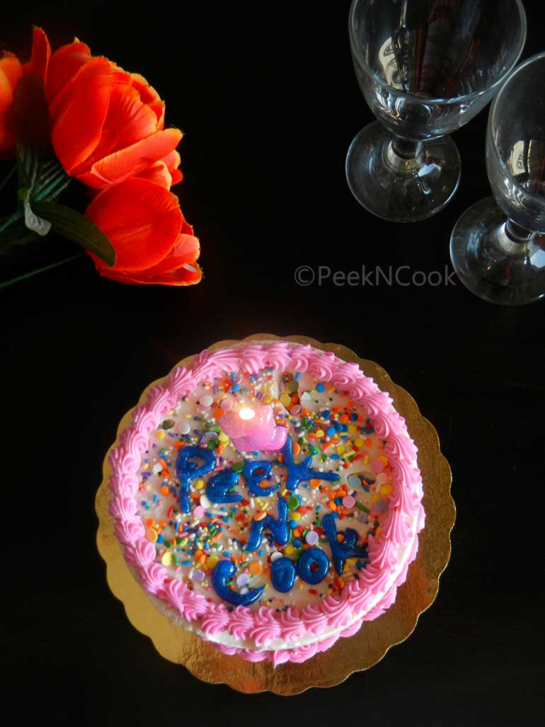 Anniversary Celebration Sponge Cake