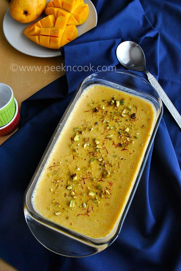 Bengali Aam Doi Or Bengali Mango Flavored Yogurt