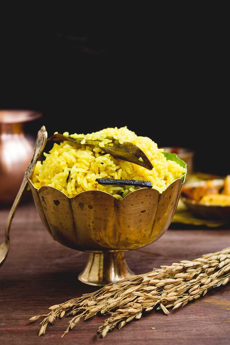 Bengali Misti Polao Or Basanti pulao