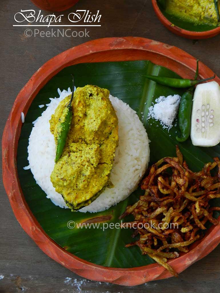 Sorshe Bhapa Ilish Or Steamed Hilsha In Mustard Gravy