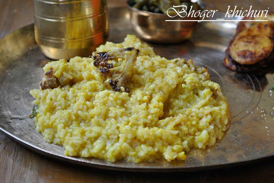 Bhoger Khichuri and Labra